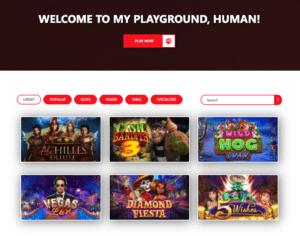 Red Dog Casino Lobby Screenshot