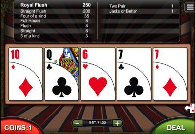 All American Poker RTG Screen