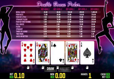 Double Bonus Poker World Match Screen