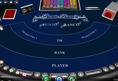 Punto Banco isoftbet Screen