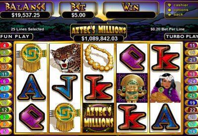 Aztec's Millions RTG Screen