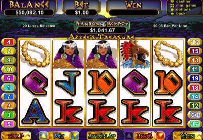 Aztec's Treasure RTG Screen