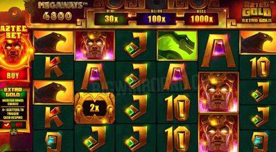 Aztec Gold Megaways Screen
