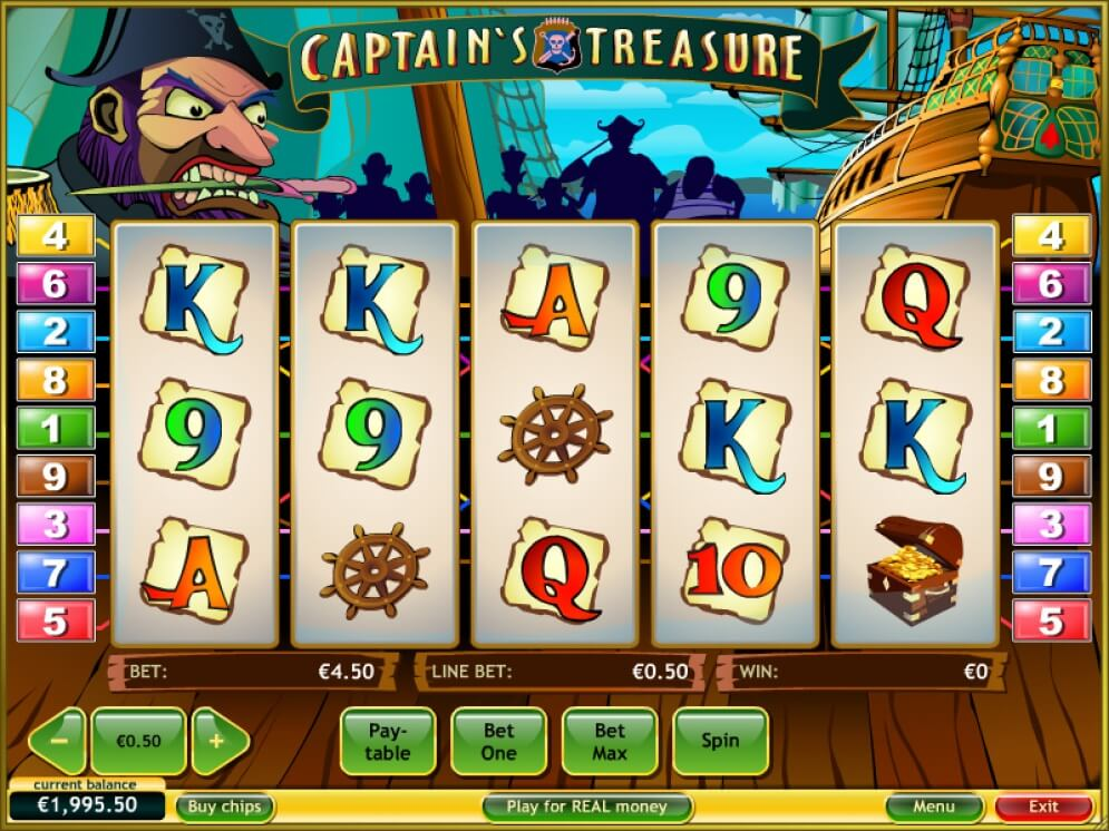 captains treasure reels