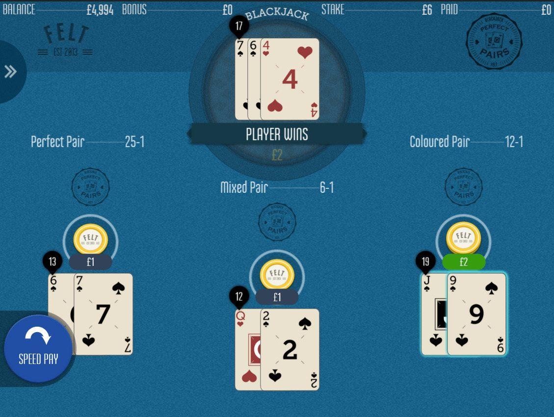 Felt Perfect Pairs Blackjack