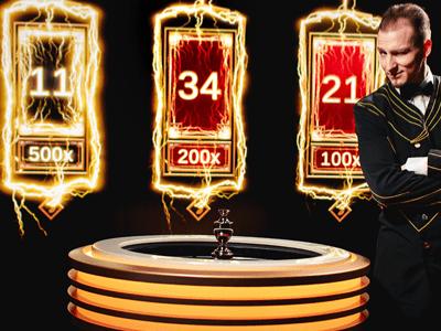 Evolution Gaming's Lightning Roulette live casino game